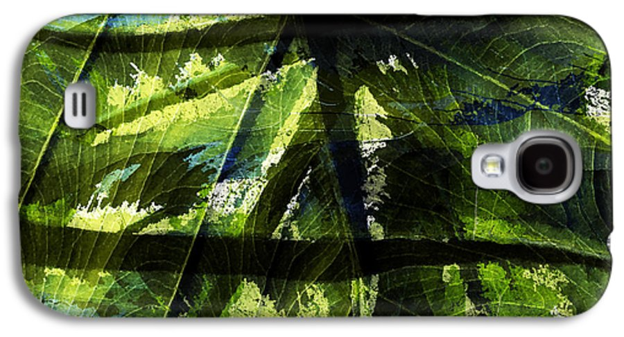 Abstract Galaxy S4 Case featuring the photograph Rainforest Abstract by Bonnie Bruno