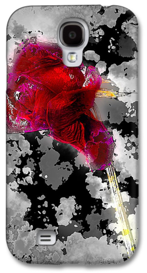 Art Galaxy S4 Case featuring the pyrography Rose by Mauro Celotti