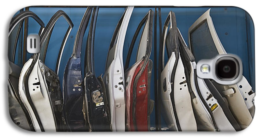 Automobiles Galaxy S4 Case featuring the photograph Row Of Dismantled Car Doors by Noam Armonn