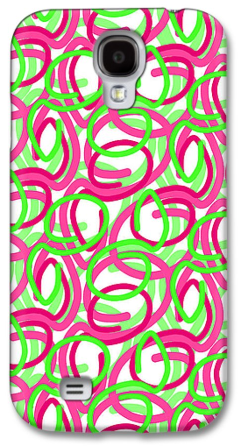 Louisa Galaxy S4 Case featuring the digital art Scroll by Louisa Knight