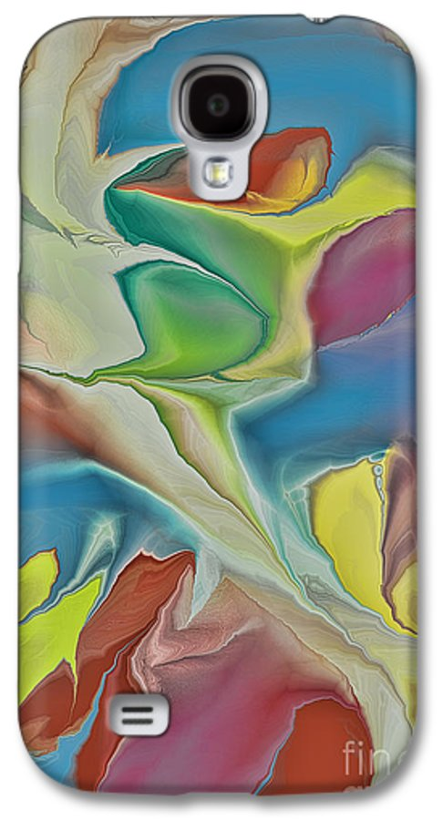 Abstract Galaxy S4 Case featuring the digital art Sharks In Life by Deborah Benoit