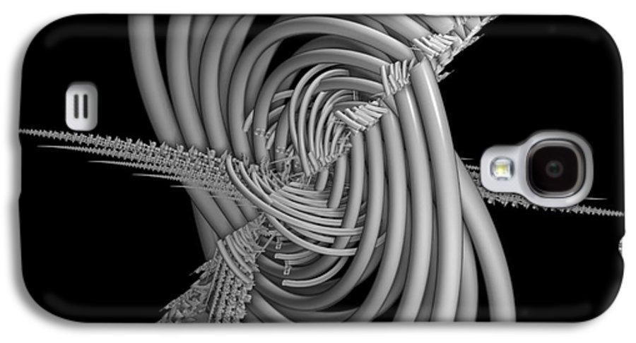 Abstract Galaxy S4 Case featuring the digital art Sput 2 by Deborah Benoit