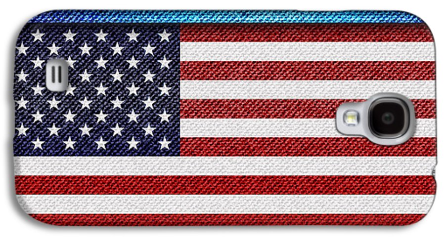 Background Galaxy S4 Case featuring the photograph Stars And Stripes Denim by Jane Rix
