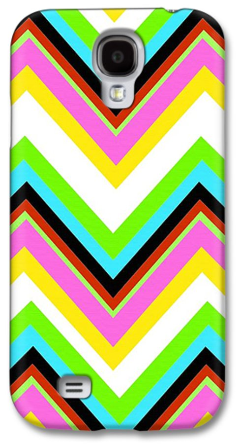 Stripe (digital) By Louisa Knight (contemporary Artist) Galaxy S4 Case featuring the digital art Stripe by Louisa Knight