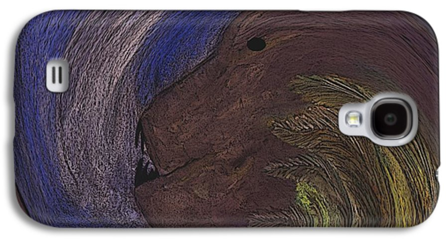 Animal Galaxy S4 Case featuring the digital art The Beast by Melvin Moon