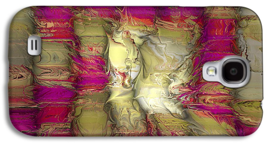 Abstract Galaxy S4 Case featuring the digital art The Face Within by Deborah Benoit