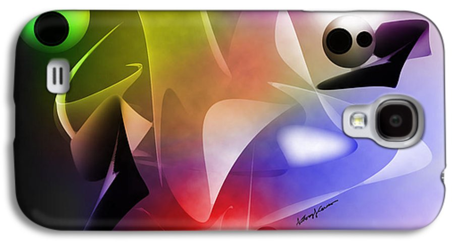 Abstract Galaxy S4 Case featuring the digital art The Future by Anthony Caruso