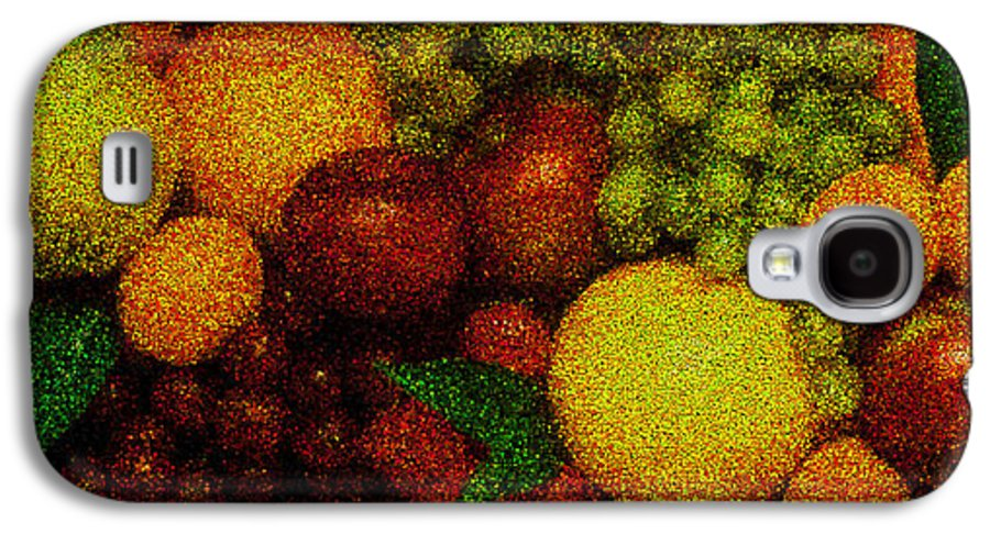 Art Galaxy S4 Case featuring the pyrography Tiled Fruit by Mauro Celotti