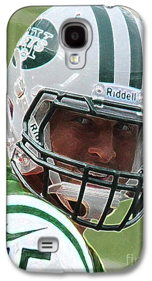Lee Dos Santos Galaxy S4 Case featuring the photograph Tim Tebow Art Deco IIi - New York Jets - by Lee Dos Santos