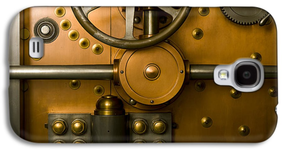 Architectural Galaxy S4 Case featuring the photograph Tumbler Bank Vault Door by Adam Crowley