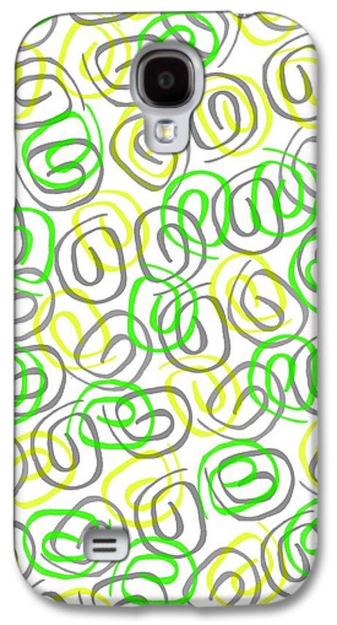Twirls (digital) By Louisa Knight (contemporary Artist) Galaxy S4 Case featuring the digital art Twirls by Louisa Knight