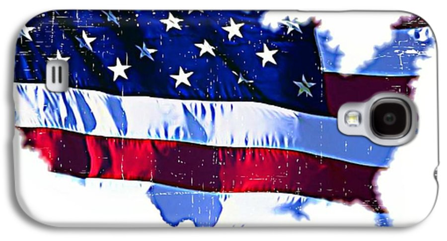Flag Galaxy S4 Case featuring the mixed media U. S. A. by ABA Studio Designs