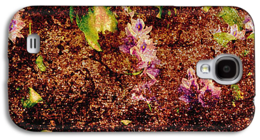 Abstract Galaxy S4 Case featuring the photograph Water Flowers Vietnam by Skip Nall