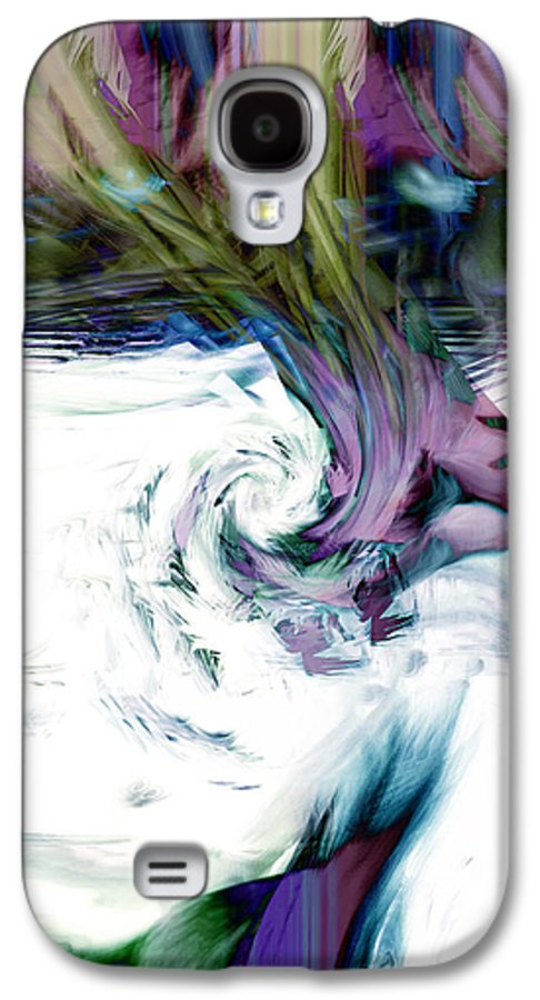 Abstract Galaxy S4 Case featuring the digital art Why by Linda Sannuti