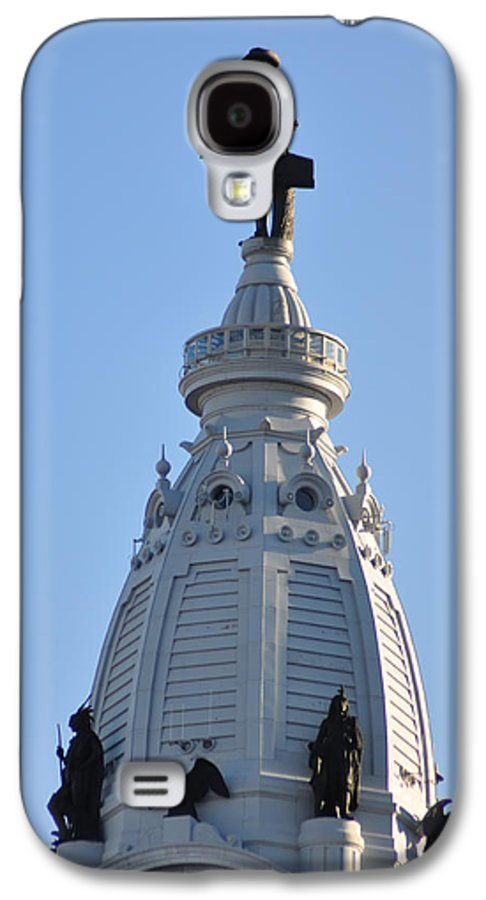 William Penn Galaxy S4 Case featuring the photograph William Penn - On Top Of City Hall by Bill Cannon
