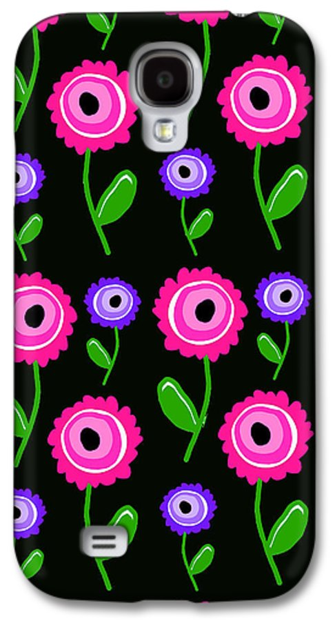 Young Florals (digital) By Louisa Knight (contemporary Artist) Galaxy S4 Case featuring the digital art Young Florals by Louisa Knight