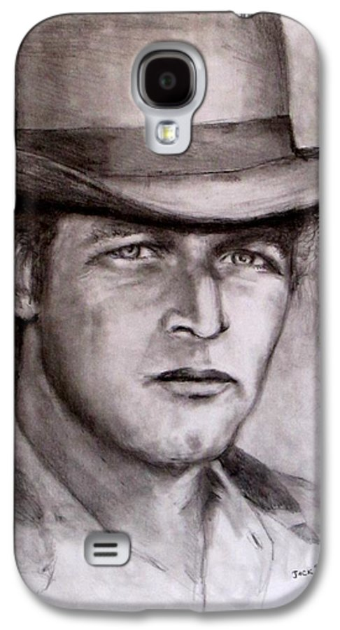 Butch Cassidy Galaxy S4 Case featuring the drawing Butch Cassidy by Jack Skinner