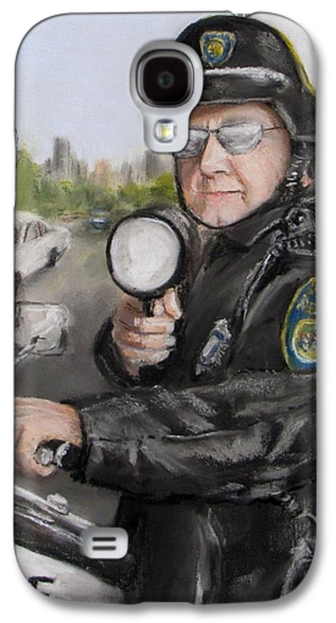 Police Galaxy S4 Case featuring the painting Gotcha by Jack Skinner