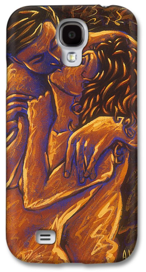 Acrylic Galaxy S4 Case featuring the painting Los Amantes The Lovers by Arturo Vilmenay