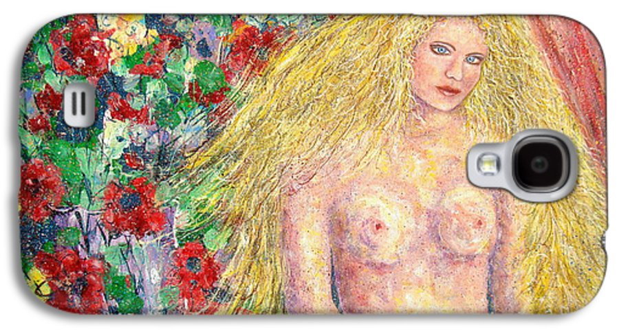 Nude Galaxy S4 Case featuring the painting Nude Fantasy by Natalie Holland