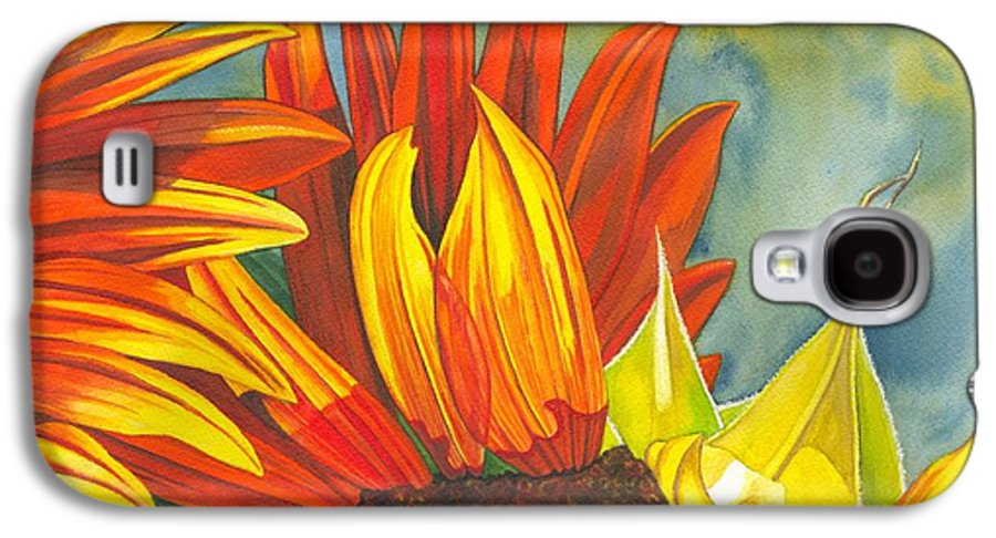 Sunflower Galaxy S4 Case featuring the painting Ray by Catherine G McElroy