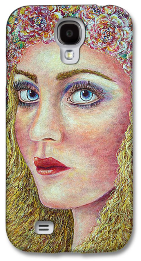 Woman Galaxy S4 Case featuring the painting  The Flower Girl by Natalie Holland