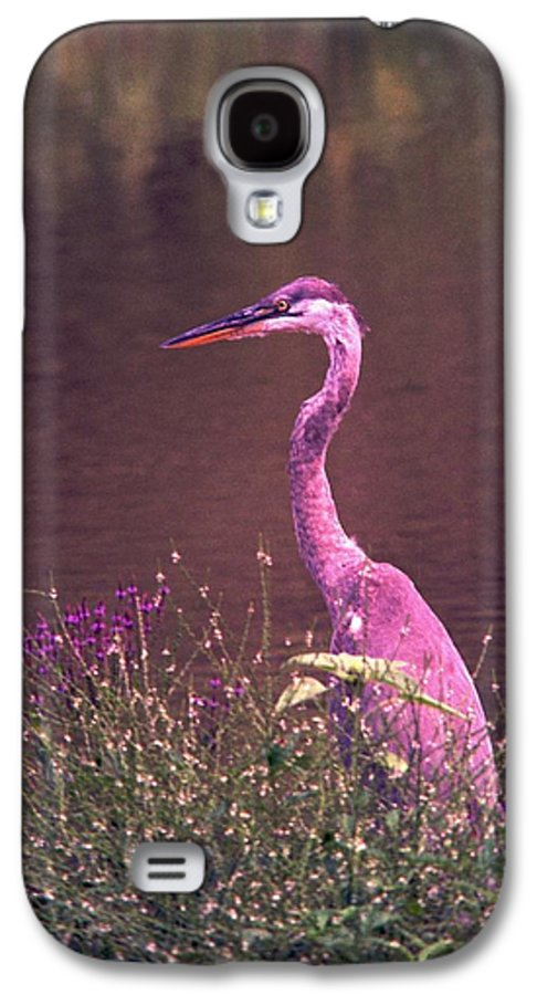Great Blue Heron Galaxy S4 Case featuring the photograph 080706-12 by Mike Davis