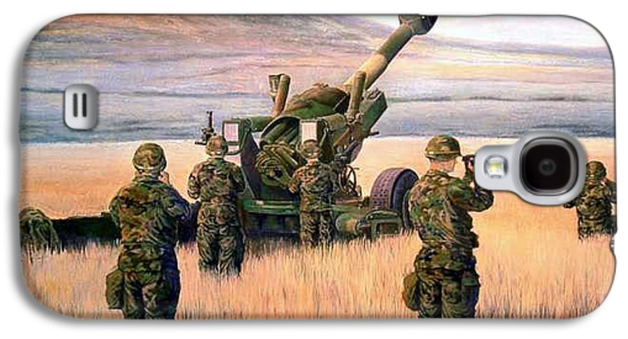 Signed And Numbered Prints Of The Montana National Guard Galaxy S4 Case featuring the print 1-190th Artillery by Scott Robertson