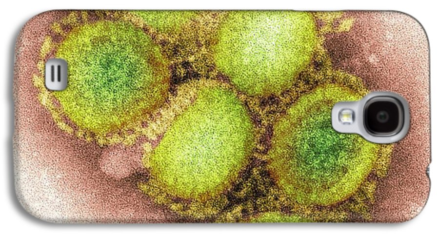 Swine Flu Galaxy S4 Case featuring the photograph 2009 H1n1 Swine Flu Virus, Tem by Cdc
