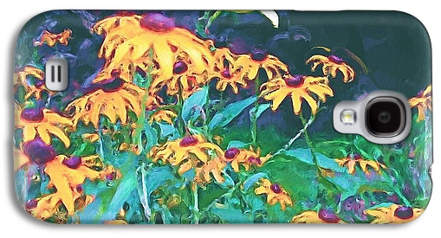 Mixed Media Galaxy S4 Case featuring the painting A Lily In The Field by Patricia Griffin Brett