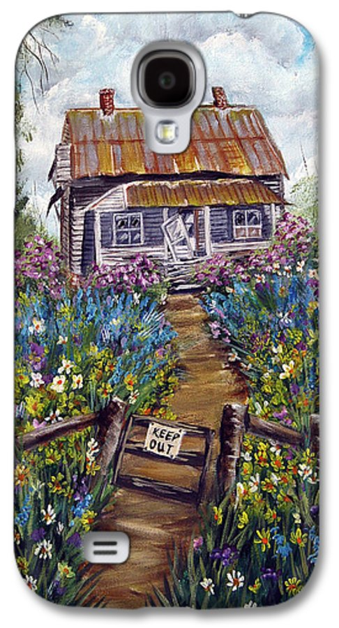 House Galaxy S4 Case featuring the painting Abandoned House by Quwatha Valentine