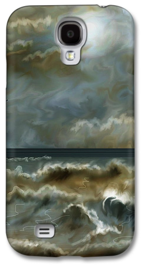 Seascape Galaxy S4 Case featuring the painting After The Squall by Anne Norskog