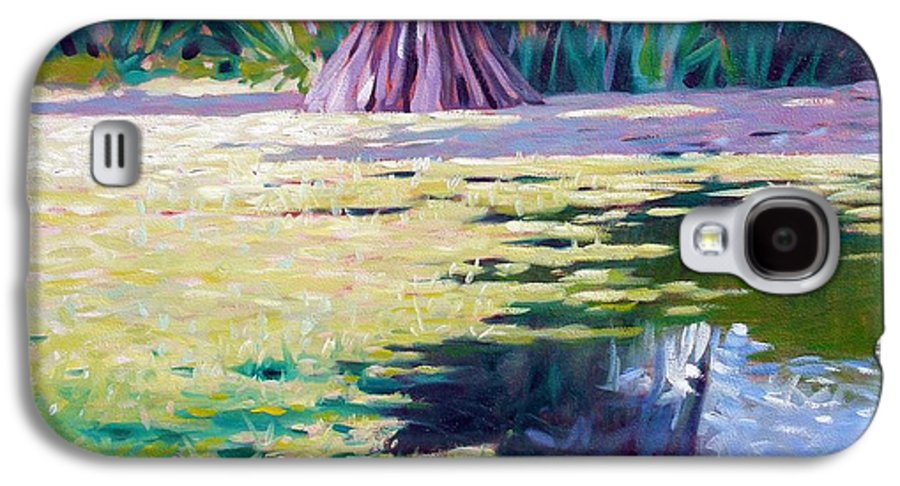 Water Galaxy S4 Case featuring the painting Algae by Kevin Lawrence Leveque