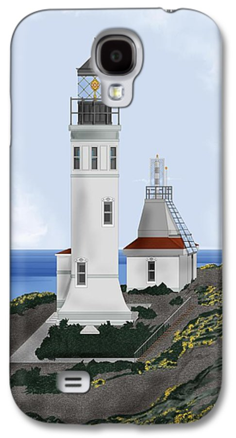 Lighthouse Galaxy S4 Case featuring the painting Anacapa Lighthouse California by Anne Norskog