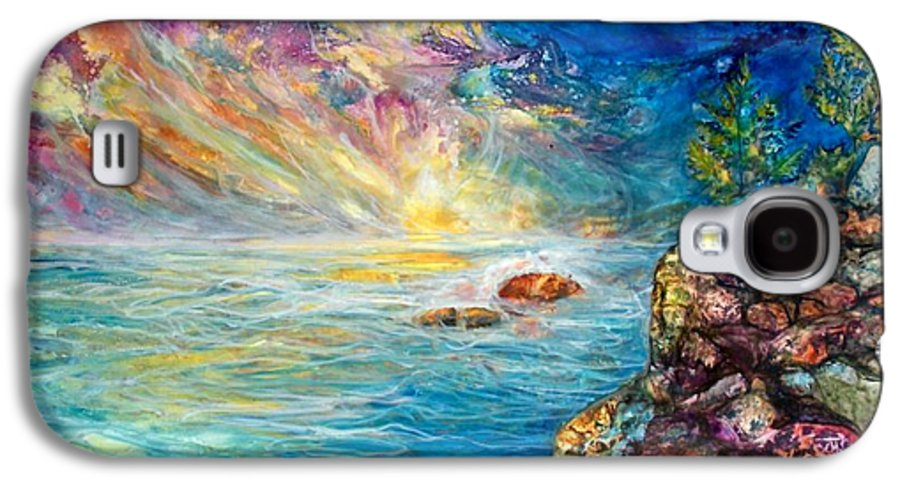 Seascape Galaxy S4 Case featuring the painting Ascension by Mary Sonya Conti