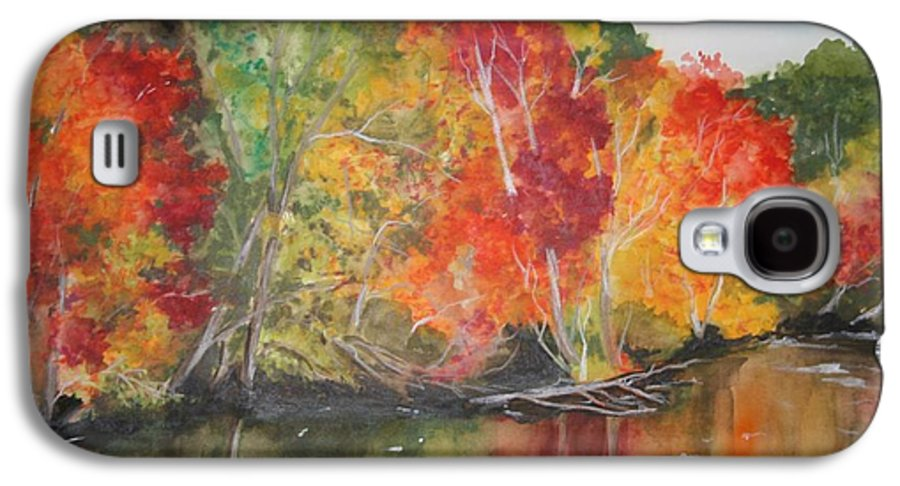 Autumn Galaxy S4 Case featuring the painting Autumn Splendor by Jean Blackmer