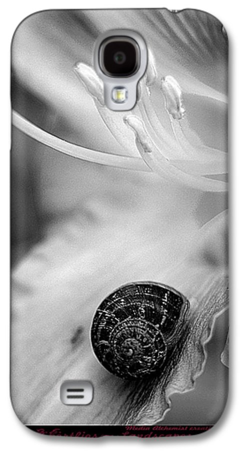 Clay Galaxy S4 Case featuring the photograph B And White Floral With Snail by Clayton Bruster