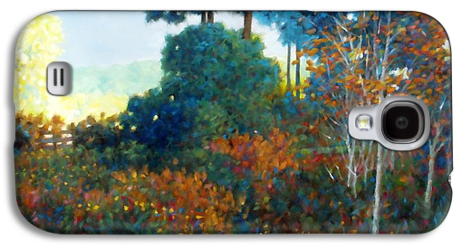 Landscape Galaxy S4 Case featuring the painting Back Gate by Kevin Lawrence Leveque