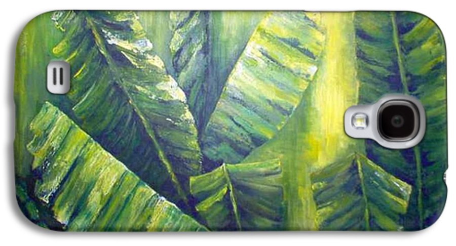 Bananas Galaxy S4 Case featuring the painting Bananas by Carol P Kingsley