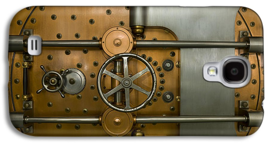 Architectural Galaxy S4 Case featuring the photograph Bank Vault Door Exterior by Adam Crowley