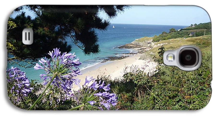 Coast Brittany Flowers Sea Ocean Bay Pines France Galaxy S4 Case featuring the photograph Bel-ile-en-mer by Lizzy Forrester
