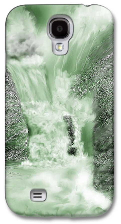 White Water Galaxy S4 Case featuring the painting Cherry Creek Lower Run by Anne Norskog
