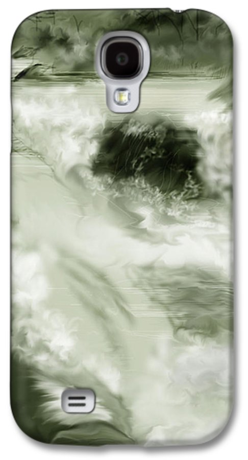 White Water Landscape Galaxy S4 Case featuring the painting Cherry Creek White Water by Anne Norskog