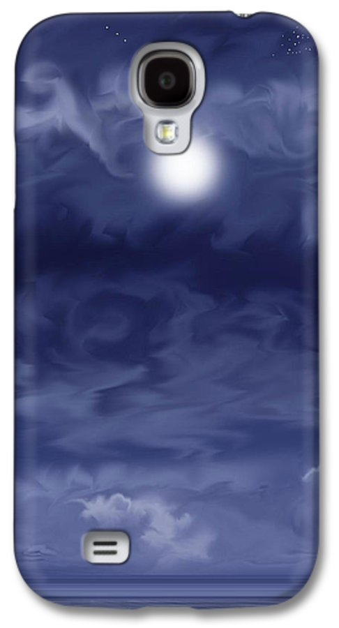 Moon Galaxy S4 Case featuring the painting Cobalt by Anne Norskog