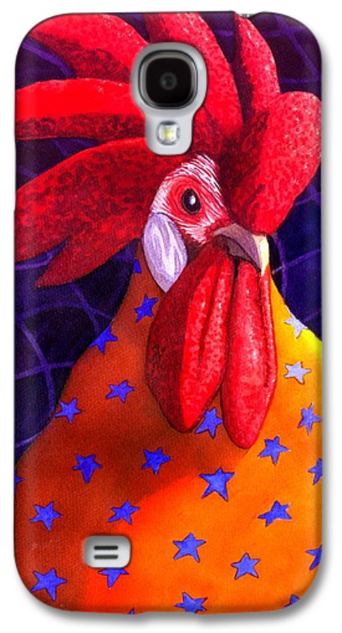 Rooster Galaxy S4 Case featuring the painting Cock A Doodle Dude by Catherine G McElroy