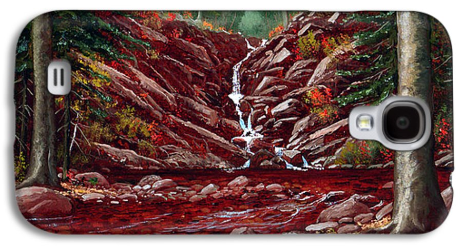 Frank Wilson Galaxy S4 Case featuring the painting Deepwoods Cascade by Frank Wilson