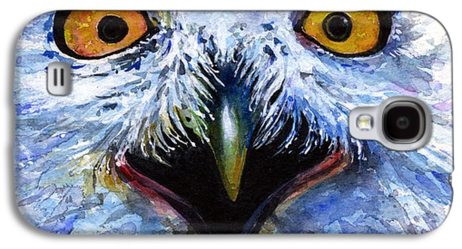 Eye Galaxy S4 Case featuring the painting Eyes Of Owls No. 15 by John D Benson