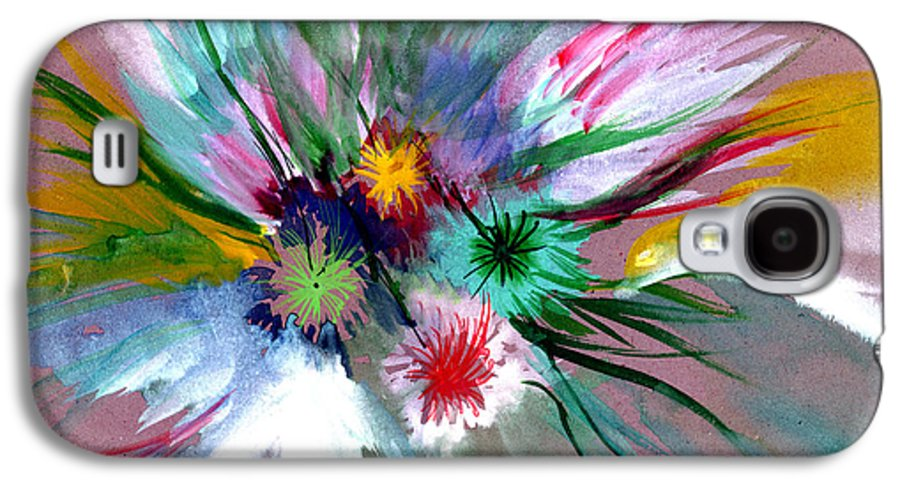 Flowers Galaxy S4 Case featuring the painting Flowers by Anil Nene