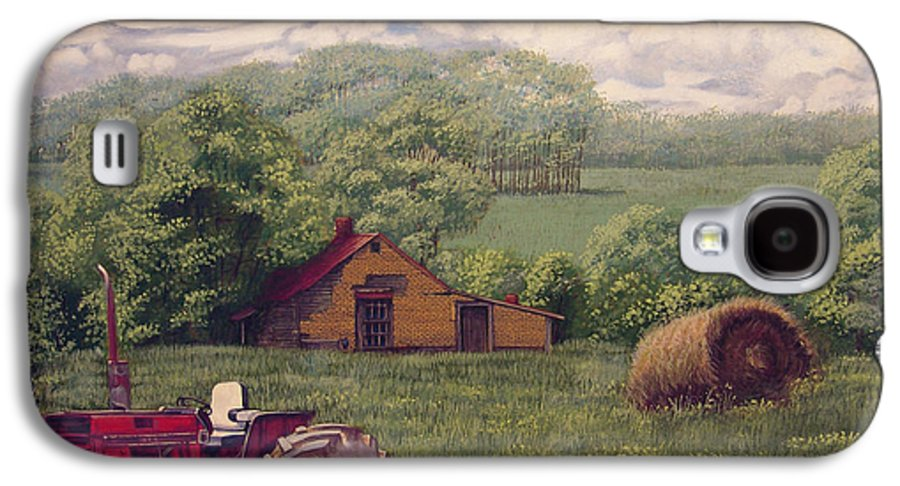 Landscape Galaxy S4 Case featuring the painting Idle In Godfrey Georgia by Peter Muzyka