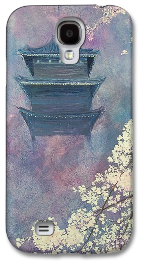 Landscape Japan Galaxy S4 Case featuring the painting Japanese Spring Scene by Lizzy Forrester